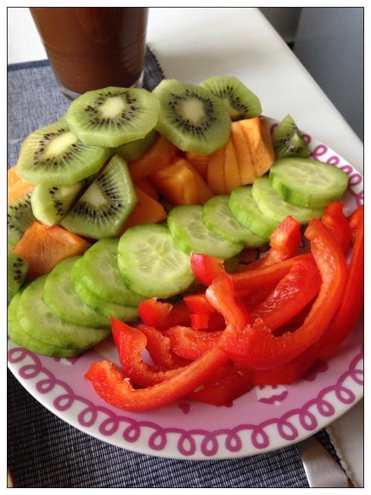 Obst & Gemüse als Beilage zum Frühstück