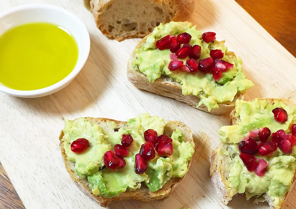 avocado vegetarisch baguette